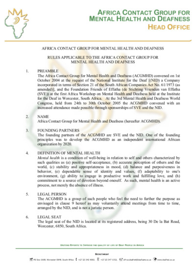 Deafnet-Africa-Contact-Group-Rules ACGMHD 19-01-2011 - English