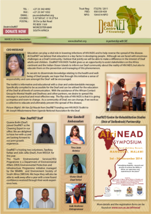 DeafNET Newsletter March 2014