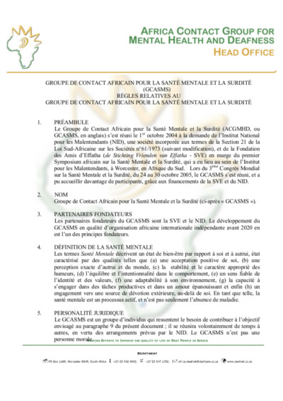 Deafnet-Africa-Contact-Group-Rules ACGMHD 19-01-2011 - French