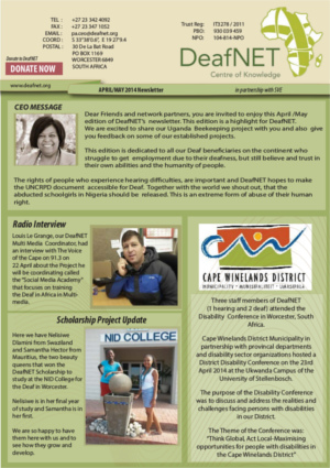 DeafNET Newsletter April/May 2014