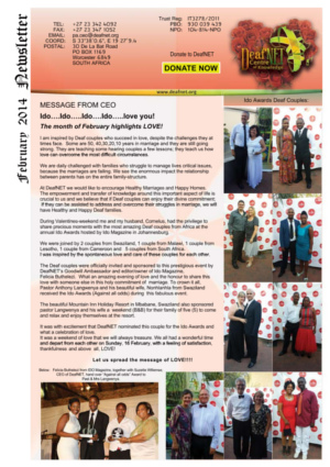 DeafNET Newsletter February 2014