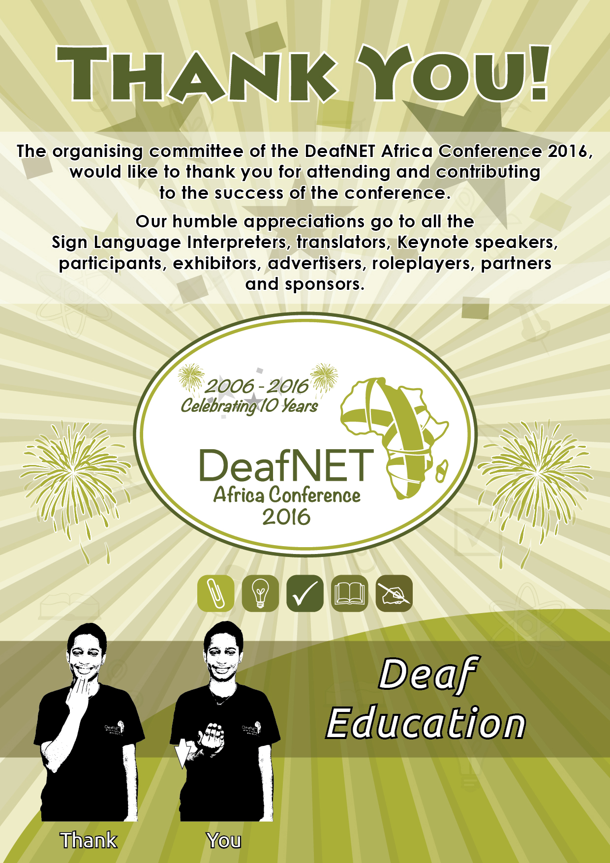 DeafNET 2016 Africa Conference THANK YOU