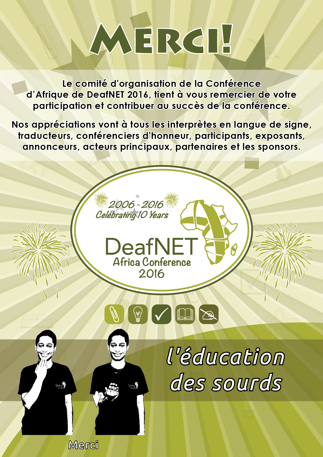 DeafNET 2016 Africa Conference MERCI