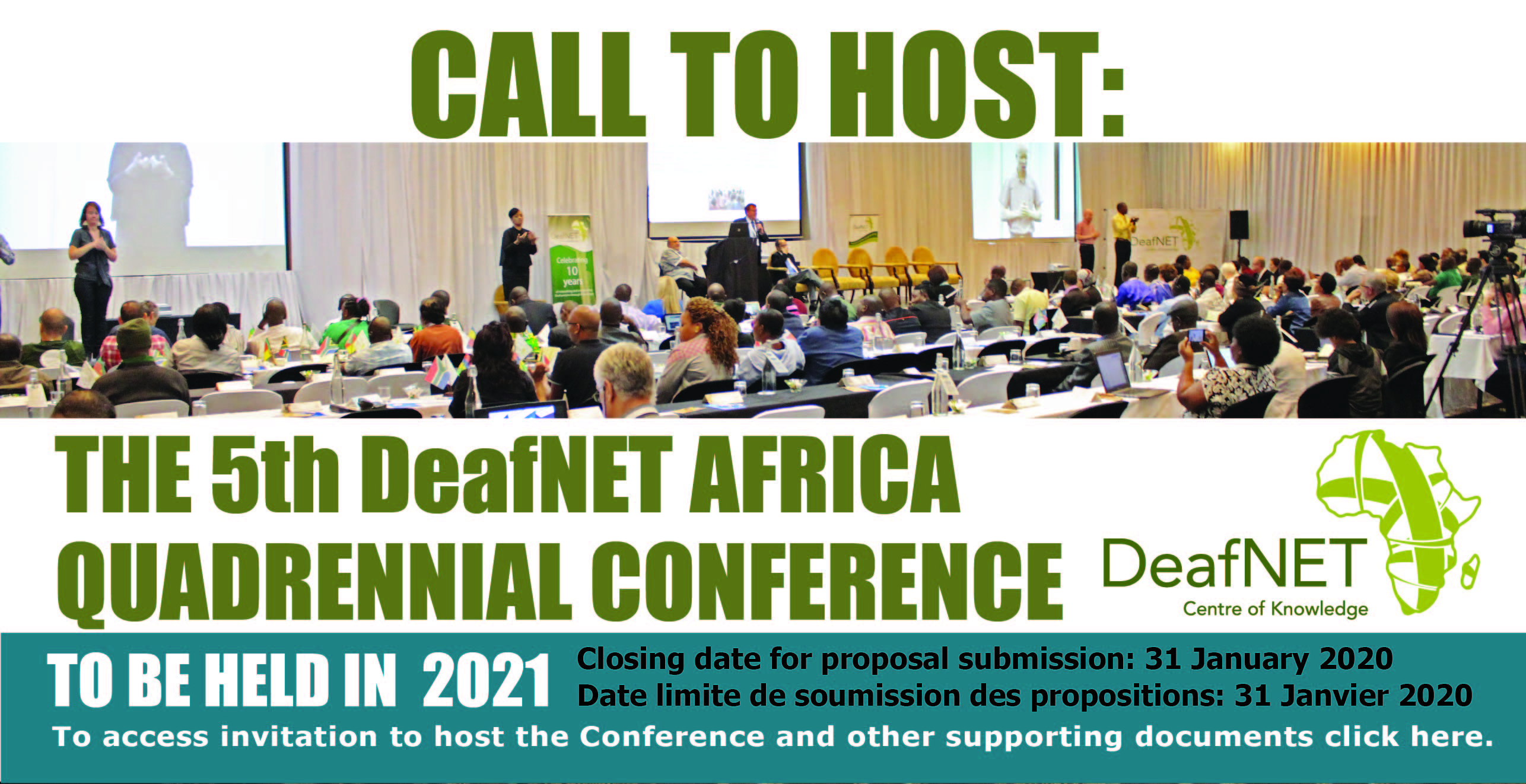 Open Call for 5th DeafNET Africa Conference 2021